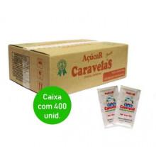 Açúcar Cristal Caravelas Sache 5g - Caixa com 400 unidades