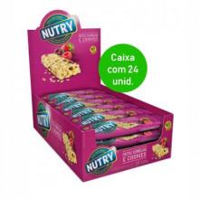 Barra de Cereal Nutry frutas vermelhas e cookies com 24 unidades
