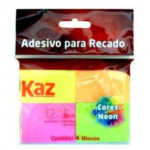 Bloco Auto Adesivo Neon Kaz 38mmx50mm