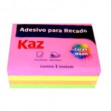 Bloco Auto Adesivo Neon Kaz 76mmx102mm