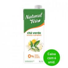 Chá Verde com laranja e gengibre Natural Tea 1 litro