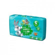 Fralda Infantil Tamanho G Looney Tunes - Pacote com 38 Unidades