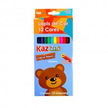 lapis de cor 12 cores kaz zoo
