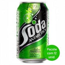 Refrigerante Soda Antarctica Lata 350ml - Pacote com 12 Unidades