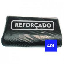 Saco para Lixo Preto Reforçado 40 Litros - 100 unidades
