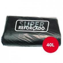 Saco para Lixo Preto Super Reforçado 40 Litros - Fardo com 5kg