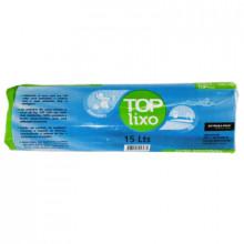 Saco para Lixo Azul 15 Litros - Bobina com 100 unidades