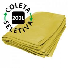 Saco para Lixo 200 Litros - Coleta Seletiva Amarelo - 100 unidades