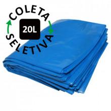 Saco para Lixo 20 Litros - Coleta Seletiva Azul - 100 unidades