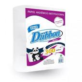 Papel Higiênico Institucional Branco Dubbon - Pacote com 8 Rolos