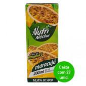 Suco Nutri Néctar de Maracujá 200ml - Caixa com 27 Unidades