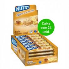 Barra de Cereal Nutry banana e mel com 24 unidades