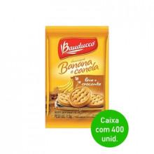 Biscoito Amanteigado Banana com Canela Bauducco Sachê 11,5g - Caixa com 400