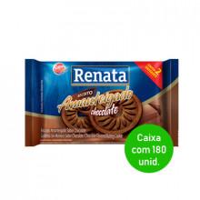 Biscoito Amanteigado Chocolate Renata Sache 9g - Caixa com 180