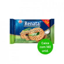 Biscoito Amanteigado Coco Renata Sache 9g - Caixa com 180