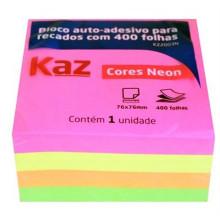 Bloco Auto Adesivo Neon Kaz 76mmx76mm