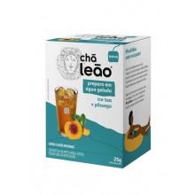 Chá Ice Tea Pêssego de Preparo Gelado Leão com 10 sachês