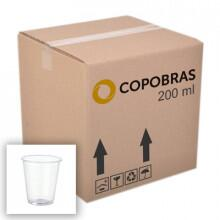 Copo Descartável Transparente 200ml Copobras - Caixa com 2500 Unidades