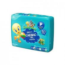 Fralda Infantil Tamanho P Looney Tunes - Pacote com 56 Unidades