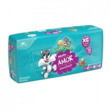 Fralda Infantil Tamanho XG Looney Tunes - Pacote com 36 Unidades