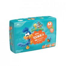 Fralda Infantil Tamanho M Looney Tunes - Pacote com 44 Unidades