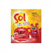 Gelatina Sol Sabor Morango 35g