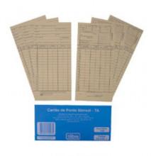 Impresso Cartão de Ponto Mensal Tilibra Pacote com 100 folhas