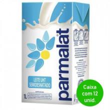 Leite UHT Semidesnatado Parmalat 1 Litro - Caixa com 12 Unidades