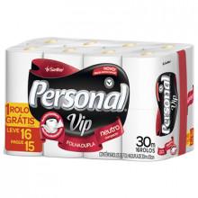 Papel Higiênico Folha Dupla Personal Vip - Pacote com 16 Rolos