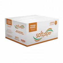 Papel Toalha Bobina 200m Softpaper Basic 28g caixa com 6 Un.