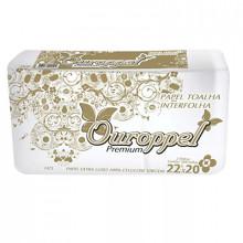 Papel Toalha Interfolha Extra Luxo Ouroppel - Pacote com 1000 unidades