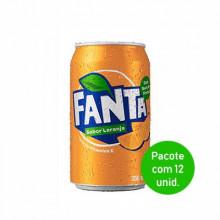 Refrigerante Fanta Laranja Lata 350ml - Pacote com 12 Unidades