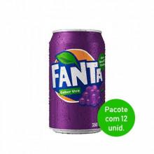 Refrigerante Fanta Uva Lata 350ml - Pacote com 12 Unidades