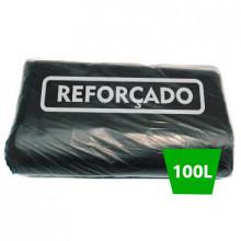 Saco para Lixo Preto Boca Larga Reforçado 100 Litros - 50 unidades