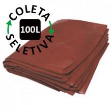 Saco para Lixo 100 Litros - Coleta Seletiva Marrom - 100 unidades