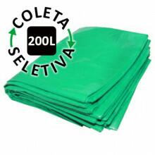 Saco para Lixo 200L- Coleta Seletiva Verde - c/ 100 un.