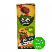Suco Nutri Néctar de Pêssego 200ml - Caixa com 27 Unidades