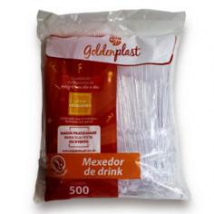 Mexedor Grande de Café/Drink GoldenPlast - Pacote com 500 Un.