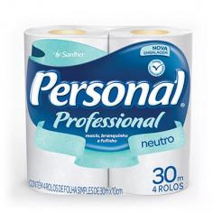Papel Higiênico Folha Simples Personal - Pacote com 4 Rolos