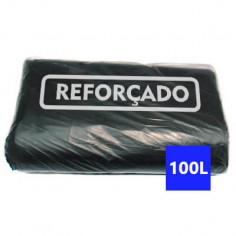 Saco para Lixo Preto Reforçado 100 Litros - 100 uni.