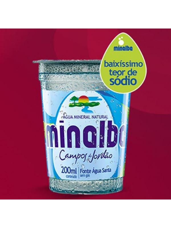 Água Mineral Sem Gás Minalba Copo 200ml - Caixa com 48 Unidades