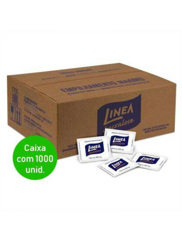 Adoçante Sucralose Sachê Linea - Caixa com 1000 unidades