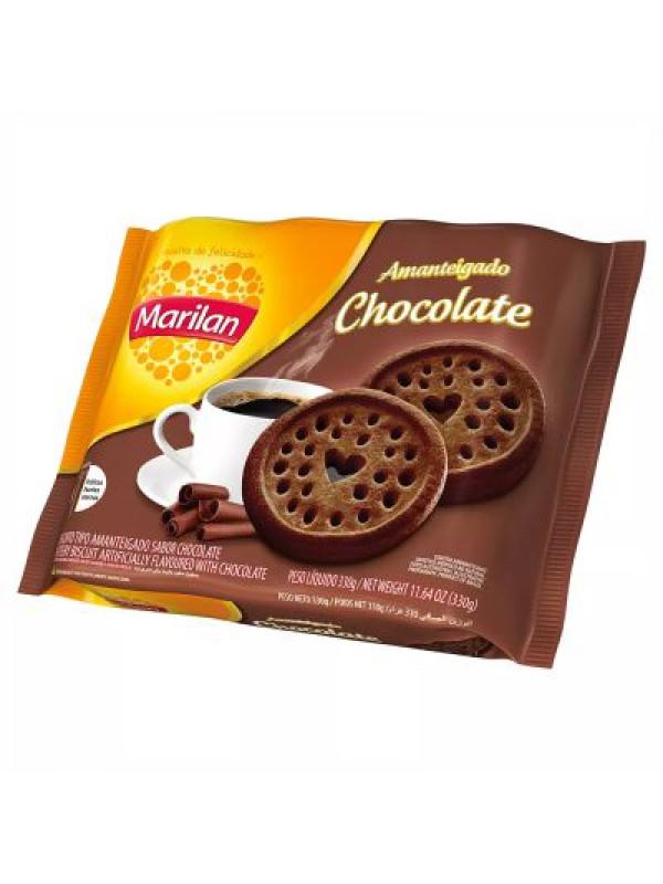 Biscoito Amanteigado Chocolate Marilan - 330g