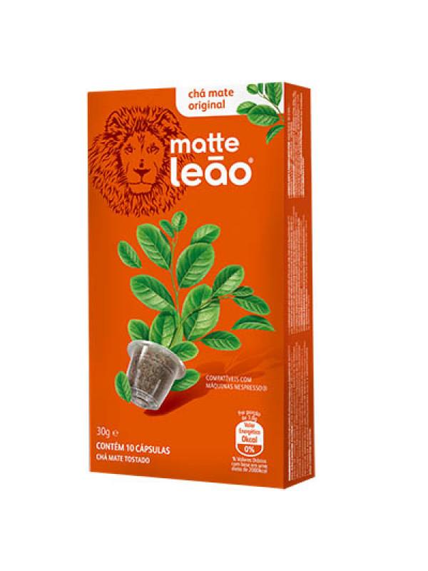 Cápsulas de Chá Mate Leão c/ 10 Un. - compatíveis Nespresso