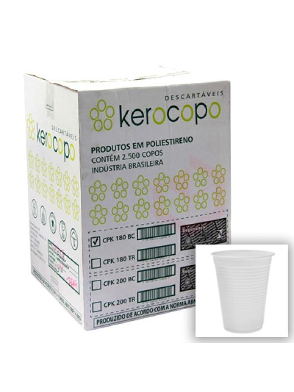 Copo Descartável 180ml Kerocopo - Caixa com 2500 Unidades