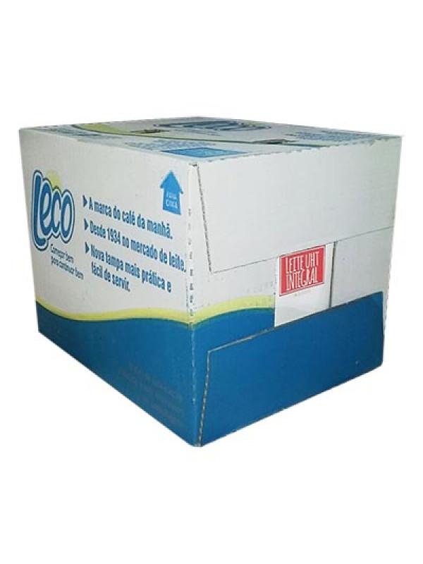 Leite UHT Integral Leco 1 Litro - Caixa com 12 Unidades