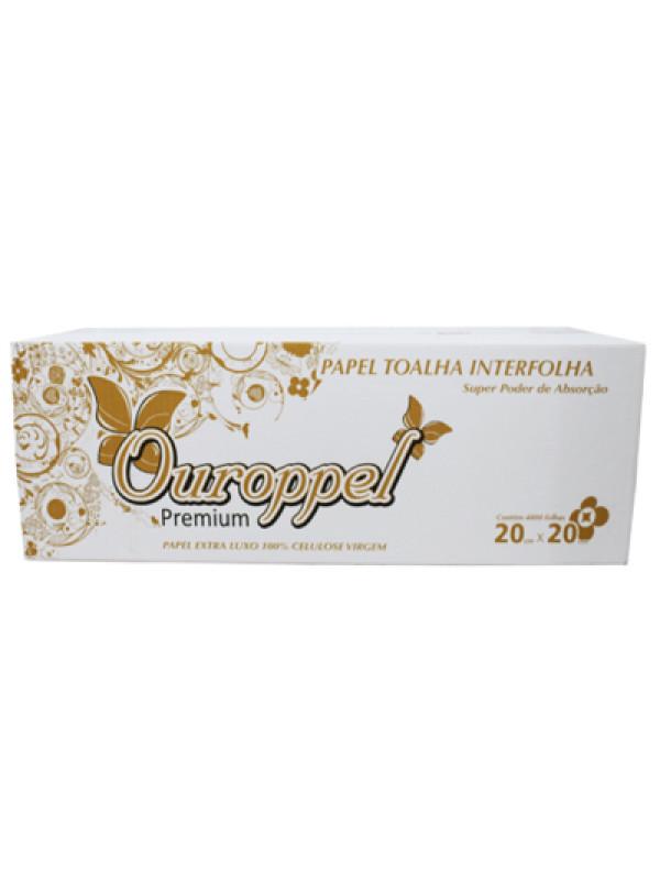 Papel Toalha Interfolha Extra Luxo Ouroppel - Caixa com 4800 unidades