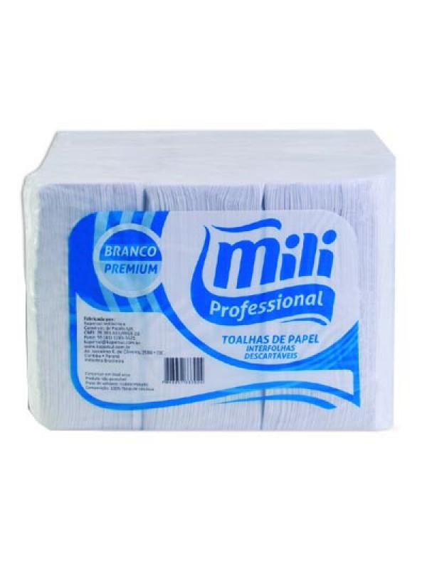 Papel Toalha Interfolha premium Branco Mili com 1000un