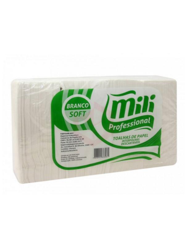 Papel Toalha Interfolha Soft Luxo Mili - Pacote com 1000 Unidades